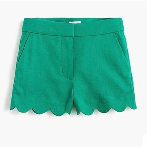 Pants - Alice Collection Green Scallop Shorts